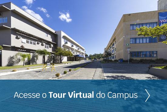 imagem para o link de acesso ao tour virtual do Campus Tubarão da Unisul