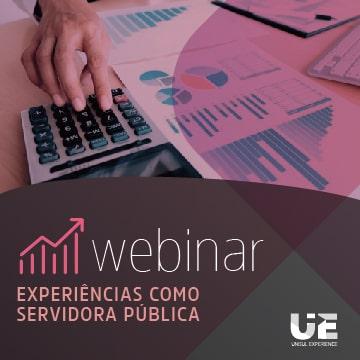 imagem do webinar experiências como servidora pública