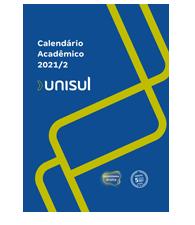 Capa do Calendário Acadêmico Unisul 2021